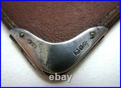 Antique Victorian 1901 Solid Silver Leather English Wallet Purse Card Stamp Case