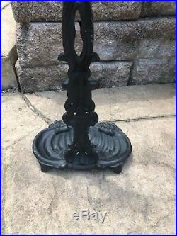 Antique Victorian Cast Iron Umbrella Cane Stand