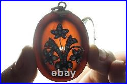 Antique Victorian English 15k Gold Onyx Pearl Locket Mourning Pendant
