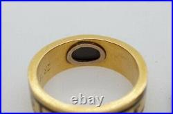 Antique Victorian English 18k Gold Enamel In Memory Of Locket Mourning Ring 1880