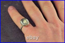 Antique Victorian English 18k Gold Natural Rock Crystal'water Droplet' Ring