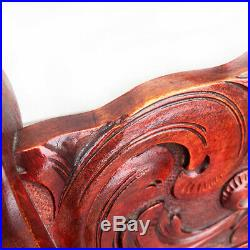 Antique Victorian Heavily Carved Walnut Accent Chair