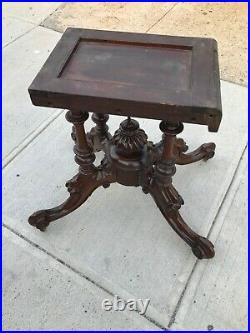 Antique Victorian Large Burl Walnut and Inlaid Tilt Top Breakfast Table