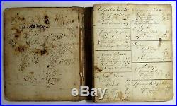Antique Victorian MANUSCRIPT COOKBOOK Handwritten Medical & Food Recipes Journal
