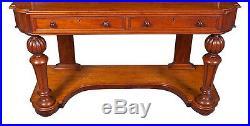 Antique Victorian Period English Mahogany Dressing Table Dresser Vanity