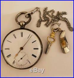 Antique Working English Victorian Key Wind Pocket Watch Arnold Adams & Co London