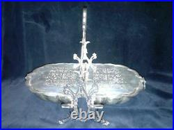 BISCUIT WARMER Shell Shape Silverplated English Victorian with Pierced Grill