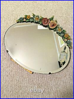 Beautiful 1930's English BARBOLA Oval Table Mirror