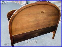 Beautiful Antique Designation Victorian Walnut Full Size Bed Frame