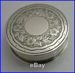 Beautiful Victorian English Solid Silver Box 1899 Antique