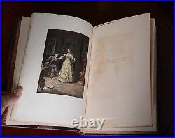 Beaux and Belles of England Antique Leather Bound Rare Books Limited Edition