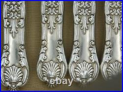 ENGLISH KING (1870) by TIFFANY & CO Silver plate Set 11 Knives