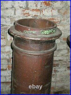 English @1870 Victorian 19th Century Salt Glazed Chimney Pot #4