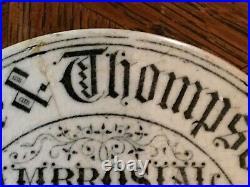 English Antique Shaving Cream Pot LID Transferware Victorian London