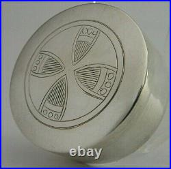 English Sterling Silver Pyx Holy Communion Wafer Box 1894 Antique Victorian