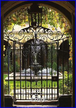 English Victorian Cast Iron Hand Made Gate, Wine Cellar Design