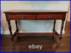 English antique mahogany side board
