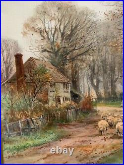 HENRY CHARLES FOX RBA Victorian Antique English Landscape Painting