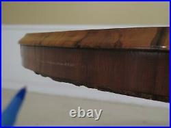 LF47980EC Antique English Victorian Inlaid Walnut Breakfast Center Table