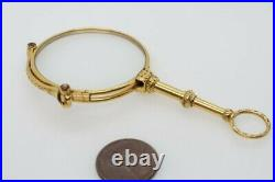 LOVELY ANTIQUE VICTORIAN ENGLISH GOLD FILLED FOLDING LORGNETTE c1900