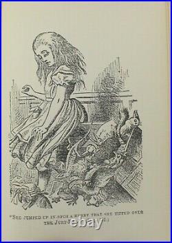 Lewis Carroll Alice's Adventures in Wonderland c 1895 Tenniel Victorian Gilt VTG