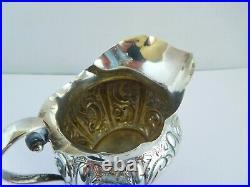 Lovely Victorian English Sterling Silver Milk / Cream Jug