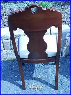 Mahogany Burl Dining Chairs Set of 4 Late 1800's to Early 1900's