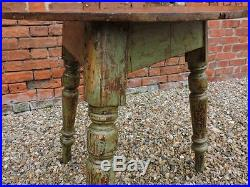 Mid 19th Century English / Welsh Antique Pine Cricket Table with Original Paint