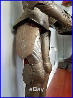 Miniature Suit of Armor Renaissance Gothic English Medieval Victorian Helmet