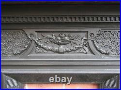 Original English Victorian Cast Iron Bedroom Fireplace Circa 1890s