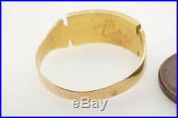 PRETTY ANTIQUE LATE VICTORIAN ENGLISH 15K GOLD 2 ROW PEARL RING c1890