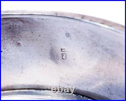 Pretty Antique English Sterling Silver Victorian Buckle Bangle Bracelet C1882