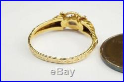Pretty Antique MID Victorian English 18k Gold Ruby & Emerald Ring