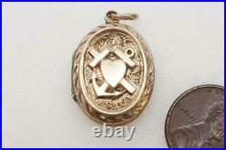 Pretty Antique Victorian English 9k Gold B&f Faith Hope & Charity Photo Locket
