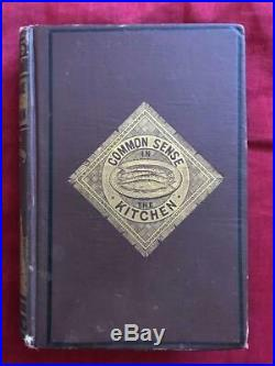 Rare 1870 Antique Cookbook Victorian Vintage Cookery Confectionery Pastry
