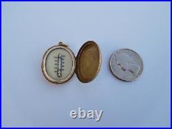 Rare 19th Century Georgian Victorian English 18K Gold Thermometer Pendant Locket