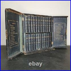 Rare Cased Set of Antique Walter Scott Books Waverley Novels 1877 Victorian