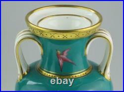Rare English Antique 19th Century Minton Porcelain Vases Circa 1860