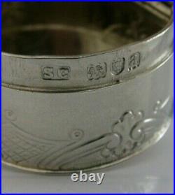 SUPERB VICTORIAN ENGLISH SOLID STERLING SILVER CHERUB SNUFF BOX 1896 ANTIQUE 50g