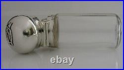 Superb English Victorian Asprey Solid Sterling Silver Bottle Flask 1899 Antique