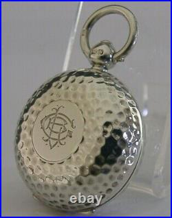 Superb English Victorian Solid Sterling Silver Sovereign Coin Case 1901 Antique