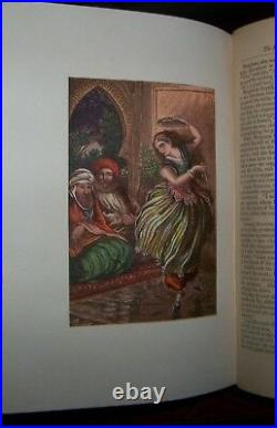 THE ARABIAN NIGHTS ENTERTAINMENTS/FAIRY TALES Antique Victorian Fine Binding