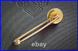 TINY ANTIQUE VICTORIAN ENGLISH 18K GOLD 3D FOX BROOCH PIN ESSEX CRYSTAL c1880