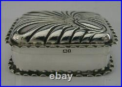 Top Quality English Solid Silver Pill Snuff Trinket Box Victorian Antique 1893