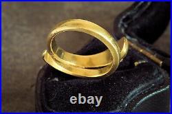 ULTIMATE ANTIQUE VICTORIAN ENGLISH 18K GOLD DIAMOND SNAKE RING c1879