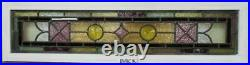 VICTORIAN ENGLISH LEADED STAINED GLASS WINDOW Transom /Side Panel 10.25 x40.25