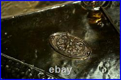 Victorian Brass Coal Box with Paw Feet FREE Shipping PL3277