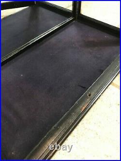 Victorian Ebonised Mirror Back Shop Display Cabinet. Circa1890s