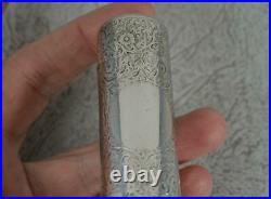 Victorian English Sterling Silver Scent Bottle