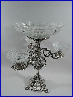 Victorian Epergne Antique Candelabrum Centerpiece English Sterling Silver